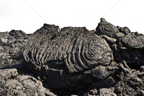 Koud vulkanisch stroom detail natuur woestijn Stockfoto © meinzahn