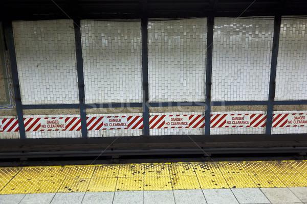 Vonat földalatti állomás New York város nap Stock fotó © meinzahn
