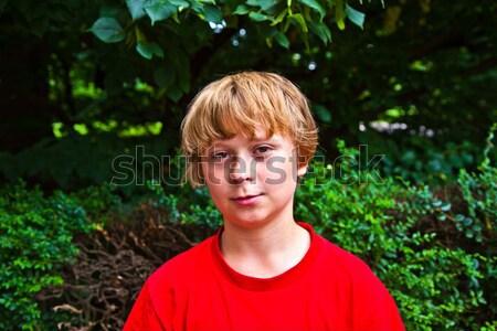 かわいい 少年 発汗 屋外 スポーツ 自然 ストックフォト © meinzahn
