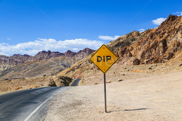 scenic road Artists Drive in Death valley with colorful stones,  Stock photo © meinzahn