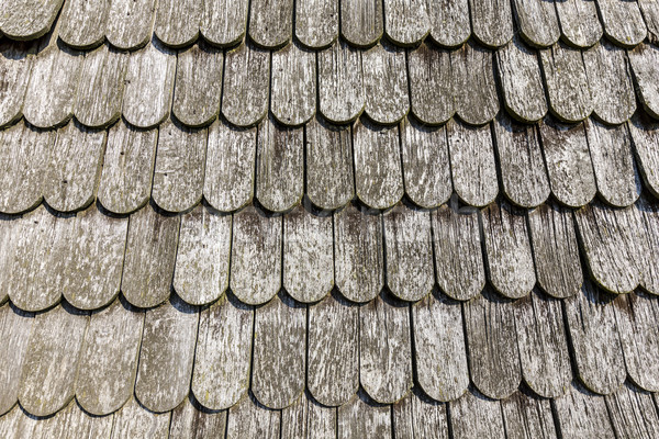 old historic  brown wood roof  tiles  Stock photo © meinzahn