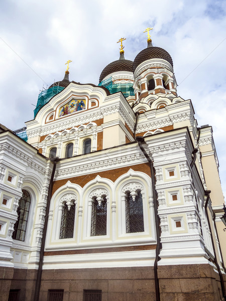 Alexander Nevsky Cathedral, an orthodox cathedral in the Tallinn Stock photo © meinzahn