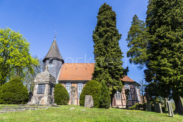 famous old church in Osterheide Stock photo © meinzahn