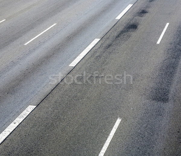 pattern of empty highway in grea with median stripes  Stock photo © meinzahn
