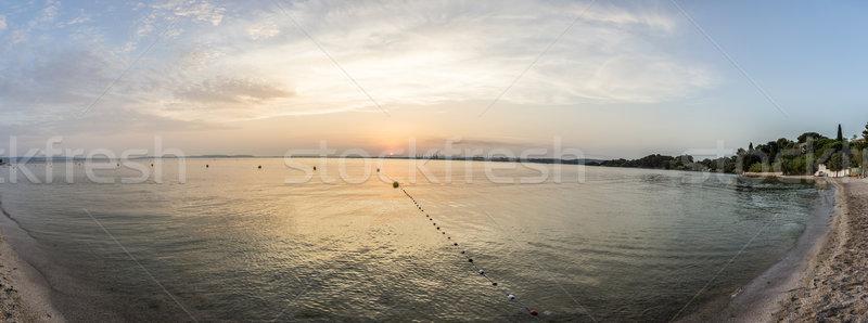 Este tengerpart Franciaország kilátás olaj Stock fotó © meinzahn