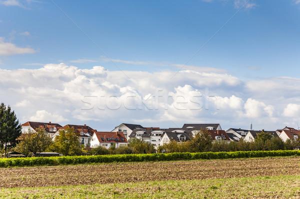 Nowego obudowa Monachium dziedzinie budynków Zdjęcia stock © meinzahn