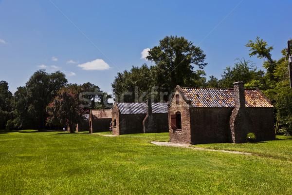 old slave huts in a South Carolina farm Stock photo © meinzahn