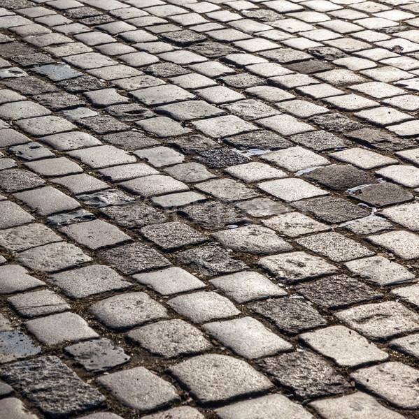 cobblestone street Stock photo © meinzahn