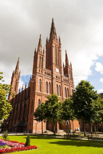 Marktkirche in Wiesbaden,Germany Stock photo © meinzahn