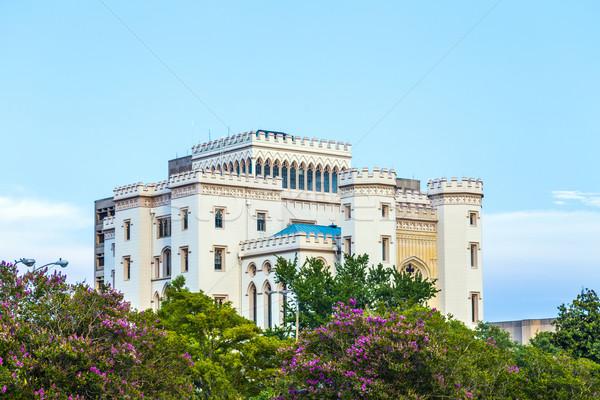 Stockfoto: Oude · historisch · hemel · Blauw · gothic · structuur