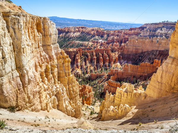 Great spires carved away by erosion in Bryce Canyon National Par Stock photo © meinzahn