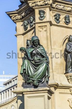 The Johannes Gutenberg monument on the southern Rossmarkt in Fra Stock photo © meinzahn
