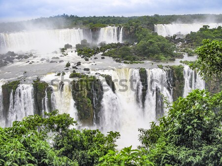 Iguazu waterfalls at Border of Brazil and Argentina. Stock photo © meinzahn