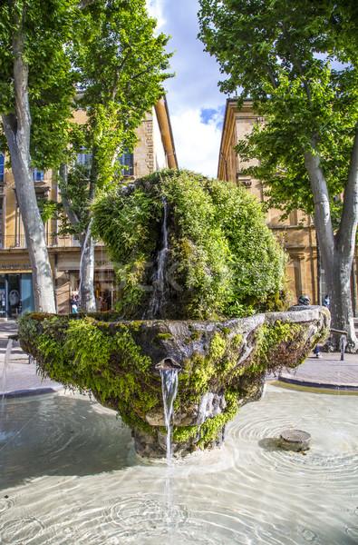 nince cannon Fontain in Aix en Provence Stock photo © meinzahn