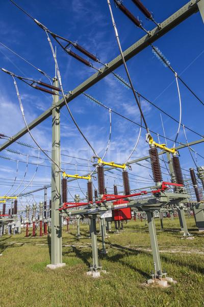 Transformatör rüzgâr enerji elektrik santralı istasyon sanayi Stok fotoğraf © meinzahn