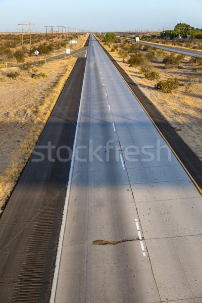 Autobahn zwischenstaatlichen Wüste Straße Metall industriellen Stock foto © meinzahn