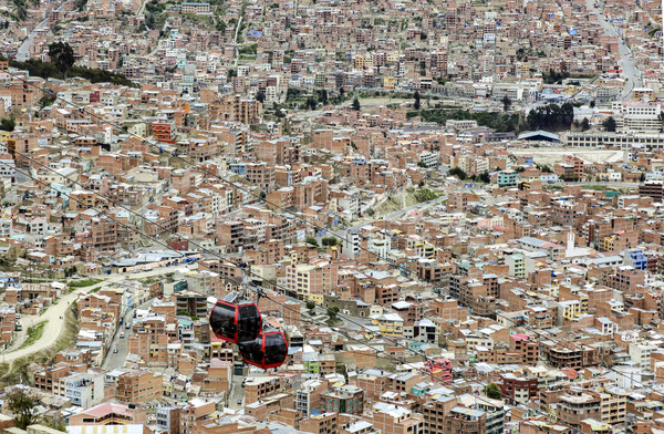 bolivian capital La Paz    Stock photo © meinzahn