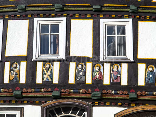 apostel half timbered house in fairy tale town of Steinau Stock photo © meinzahn