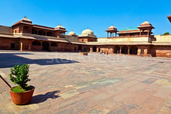 Oude stad Indië wijk groot keizer Stockfoto © meinzahn