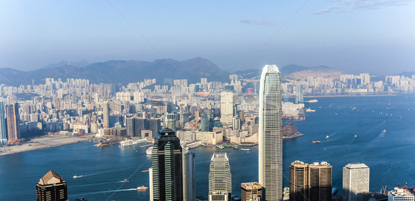 Stock photo: hong Kong view from Victoria Peak to the skyline