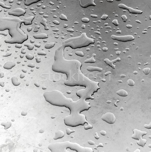 water on silver metal  Stock photo © meinzahn