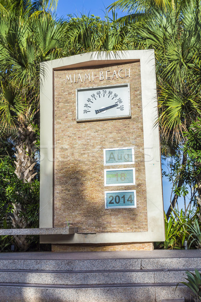 Pálmafa art deco építészet óceán vezetés Miami Stock fotó © meinzahn