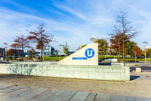 Берлин станция городского скорости движения туннель Сток-фото © meinzahn