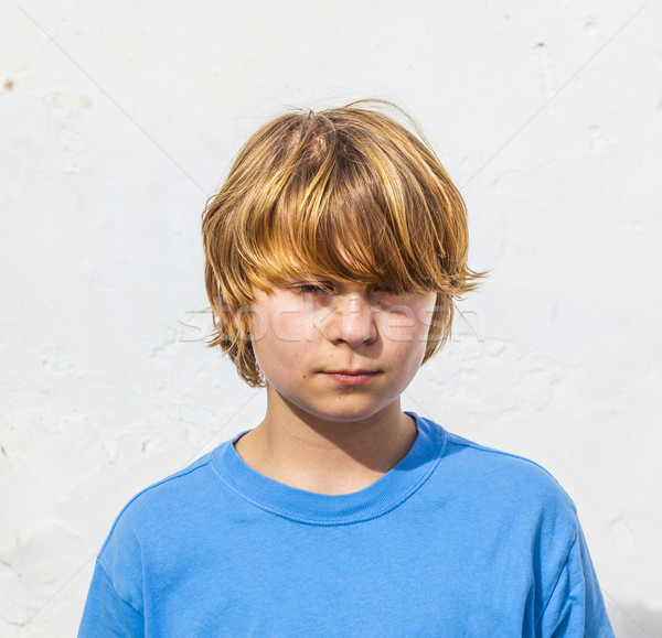 portrait of cute young boy Stock photo © meinzahn
