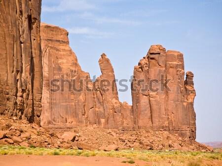 Ptaków strony gigant piaskowiec dolinie niebo Zdjęcia stock © meinzahn