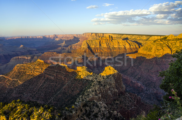 colorful Sunset at Grand Canyon seen from Mathers Point, South Rim Stock photo © meinzahn