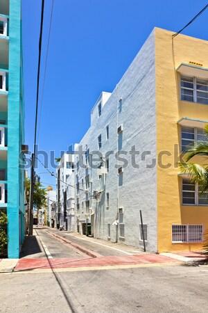 Híres art deco építészet dél Miami Washington Stock fotó © meinzahn