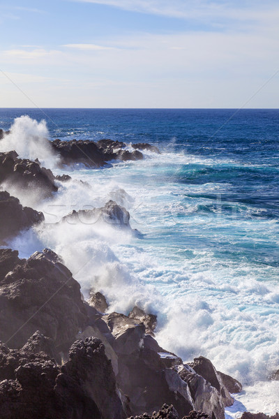 грубо берега пейзаж горные океана Сток-фото © meinzahn
