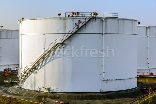 white tank in tank farm  Stock photo © meinzahn