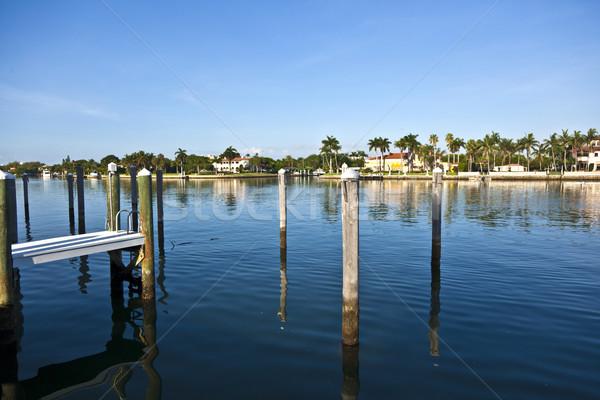 Güzel evler güney Miami okyanus giriş Stok fotoğraf © meinzahn
