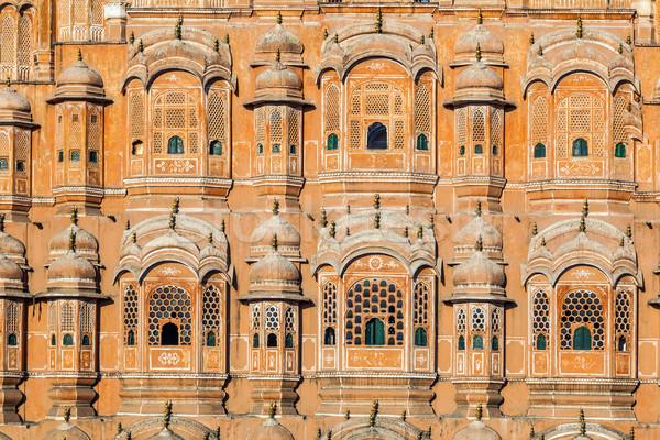 Hawa Mahal, the Palace of Winds, Jaipur Stock photo © meinzahn