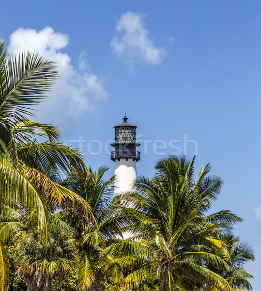 Famous lighthouse at Cape Florida at Key Biscayne Stock photo © meinzahn