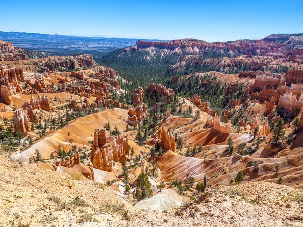 Lejos erosión canón parque Utah Foto stock © meinzahn