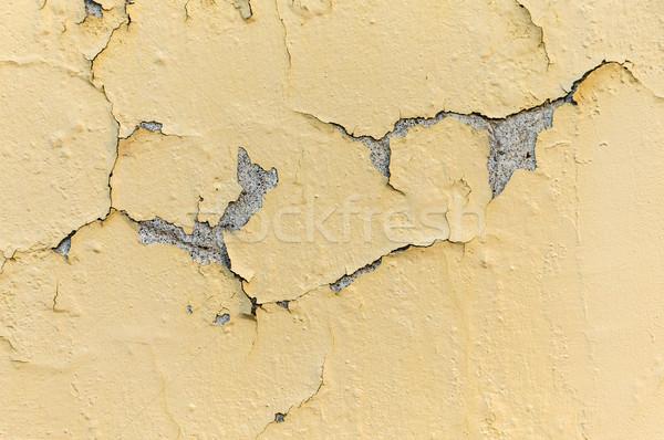 Amarelo branco pintar áspero superfície parede Foto stock © meinzahn