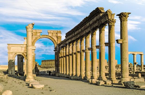 ancient city of Palmyra Stock photo © meinzahn
