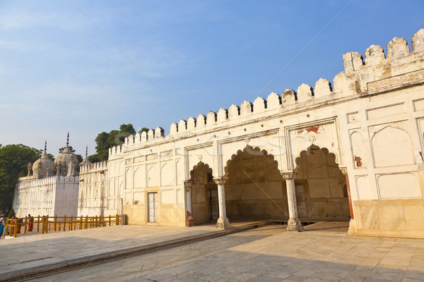 Hammam and Mosque in RED FORT complex in Delhi, India.  Stock photo © meinzahn