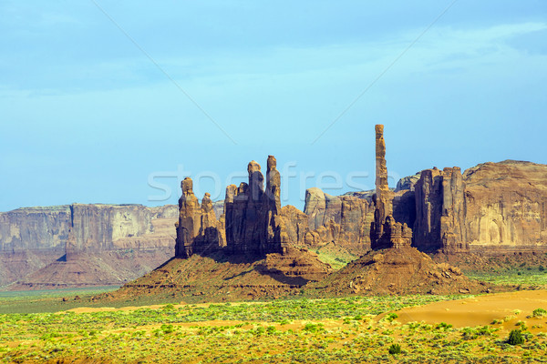 The Totem Pole Butte is a giant sandstone formation in the Monum Stock photo © meinzahn