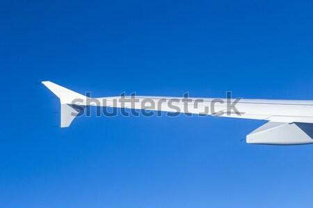 Dettaglio aeromobili ala cielo metal aeroporto Foto d'archivio © meinzahn
