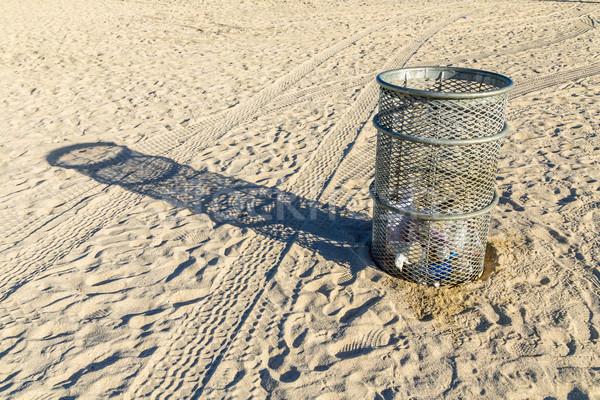 litter boy at the beach Stock photo © meinzahn