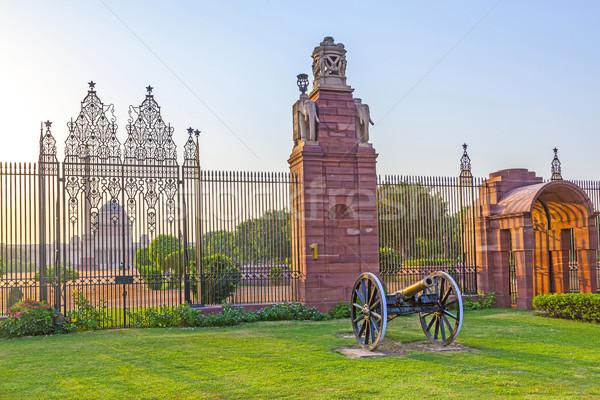 вход дома парламент Дели Индия здании Сток-фото © meinzahn
