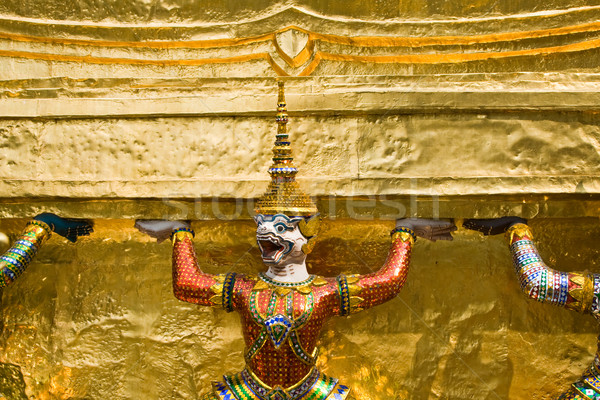 guards of the Temple of the Emerald Buddha, Wat Phra Kaeo in the Stock photo © meinzahn