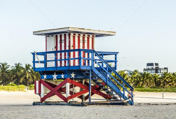 life guard tower on South Beach, Miami Stock photo © meinzahn