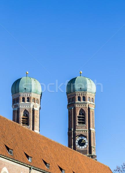 Topo Munique blue sky céu inverno azul Foto stock © meinzahn
