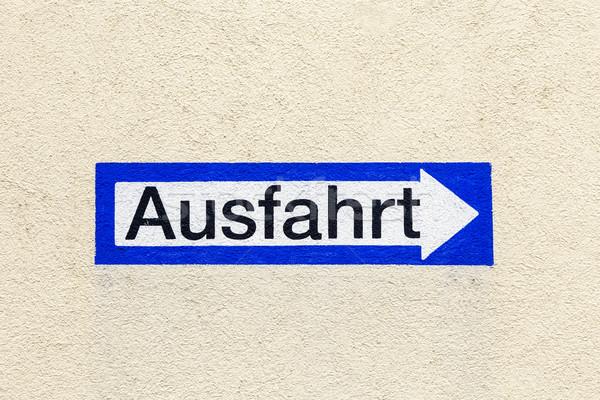 にログイン 終了する 描いた 壁 青 ストックフォト © meinzahn