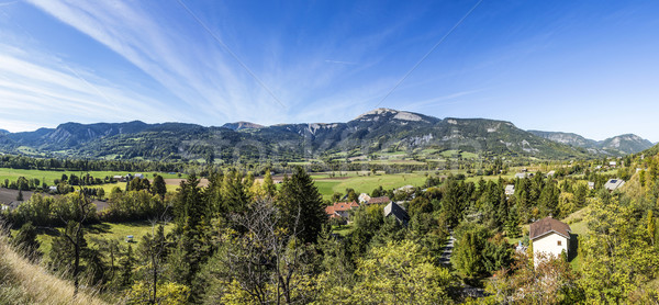 panorama of the French Alpes at Seyne les Alps Stock photo © meinzahn