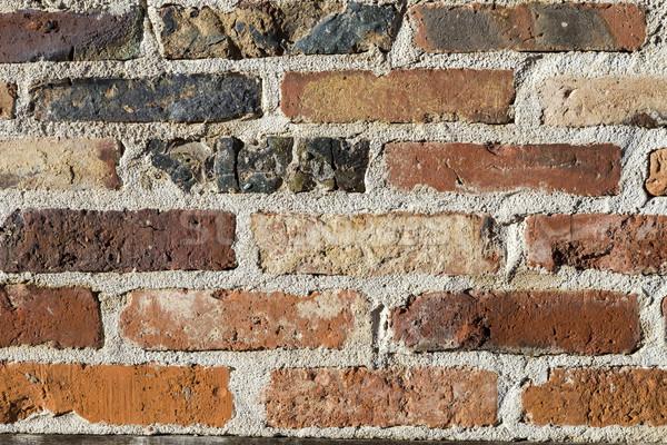 Patiné brique mur de pierre vieux rouge anciens Photo stock © meinzahn